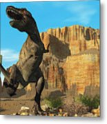 T-rex Metal Print by Corey Ford