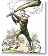 T. Roosevelt Cartoon, 1904 Metal Print