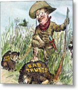 T. Roosevelt Cartoon, 1909 Metal Print