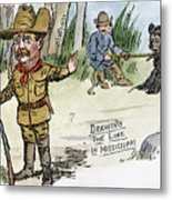 T. Roosevelt: Teddy Bear Metal Print