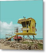 T7 Lifeguard Station Kapukaulua Beach Paia Maui Hawaii Metal Print