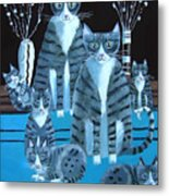 Tabby Family Metal Print