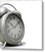 Table Clock Metal Print