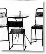 Table For Three Metal Print
