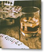 Table Games And The Wild West Saloon  Metal Print