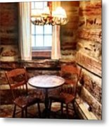 Table In The Corner Metal Print