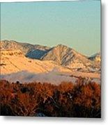 Table Mesa Winter Morning Metal Print