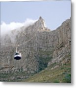 Table Mountain Cable Car Metal Print