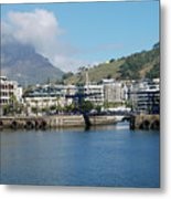 Table Mountain From The V And A Waterfront Quays Metal Print