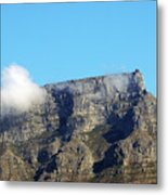 Table Mountain - Still Life With Blue Sky And One Cloud Metal Print
