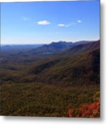 Table Rock Mountain From Caesars Head State Park In Upstate South Carolina Metal Print