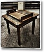 Table That Thought. This Beautiful Metal Print