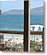 Table With A View Metal Print