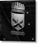 Tableau Sign In Black And White Metal Print