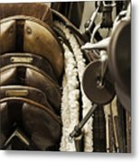 Tac Room Saddles Metal Print