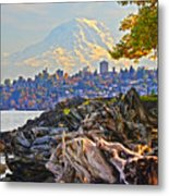 Tacoma In The Fall Metal Print