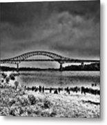 Tacony Palmyra Bridge In B And W Metal Print