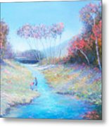 Tadpoling By The River Metal Print