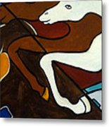 Taffy Horses Metal Print
