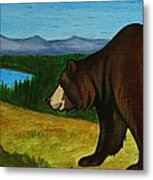 Taggart Lake Bears Metal Print