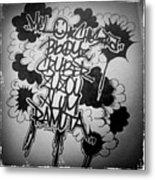 Tagging Metal Print
