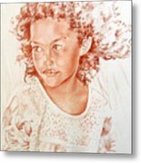 Tahitian Girl Metal Print