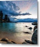 Tahoe Bursting Clouds Metal Print