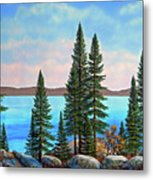 Tahoe Shore Metal Print