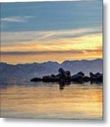 Tahoe Sunset Metal Print