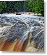 Tahquamenon Lower Falls Upper Peninsula Michigan Vertical 01 Metal Print