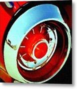 Tail Light American Car H B Metal Print