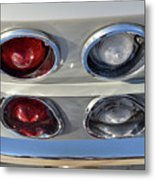 Tail Lights Of A 1966 Chevrolet Corvette Sting Ray 427 Turbo-jet Metal Print