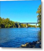 Tail Race Canal Metal Print