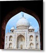 Taj Archway Metal Print