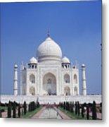 Taj Mahal Landscape Metal Print