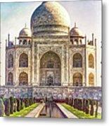 Taj Mahal - Paint Metal Print