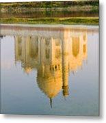 Taj Mahal Reflection Metal Print
