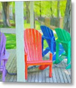Take A Seat But Don't Take A Chair Metal Print