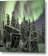 Take A Seat For The Aurora Custom 1x1 Metal Print