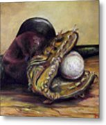 Take Me Out To The Ball Game Metal Print by Deborah Smith
