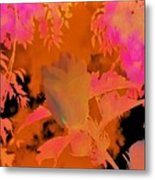 Take Three Floral Abstract Metal Print
