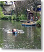 Taking The Oars Metal Print