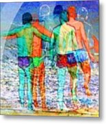 Taking The Plunge Together Metal Print