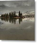 Talbot Lake Stormy Panorama Metal Print