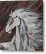 Tale Of The Wind Horse Metal Print