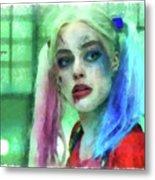 Talking To Harley Quinn - Aquarell Style Metal Print