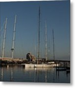 Tall Boats In The Morning Metal Print