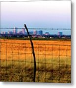 Tall City Morning Metal Print