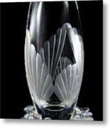 Tall Crystal Vase Metal Print