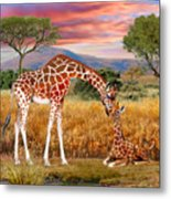 Tall Love From Above Metal Print